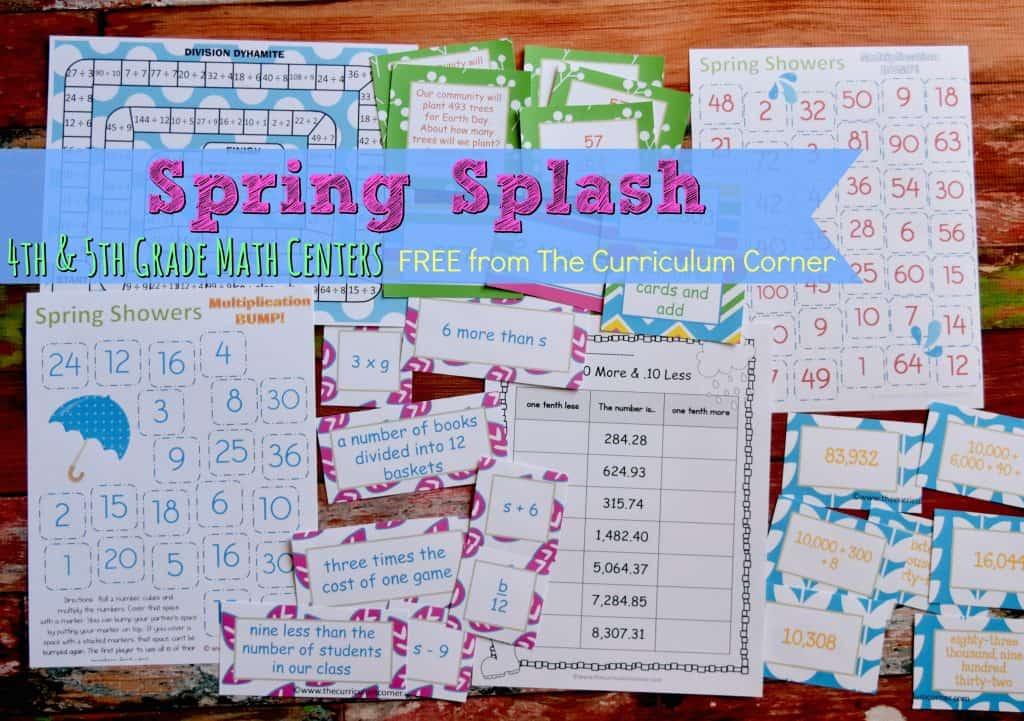 FREE Spring Math Centers