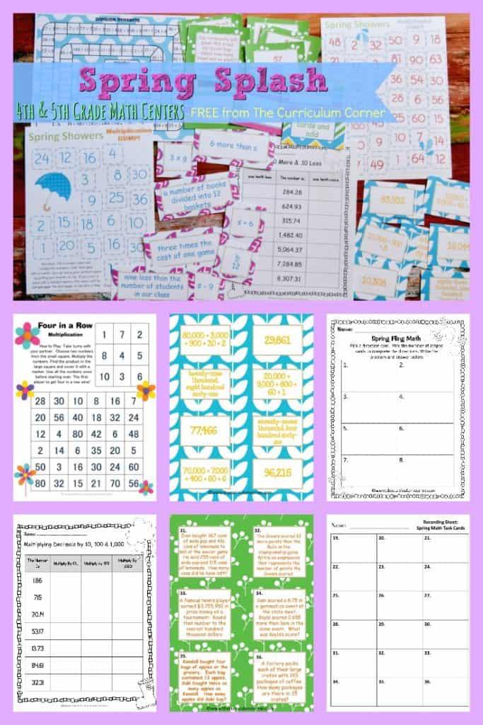 FREE Spring Math Centers 2