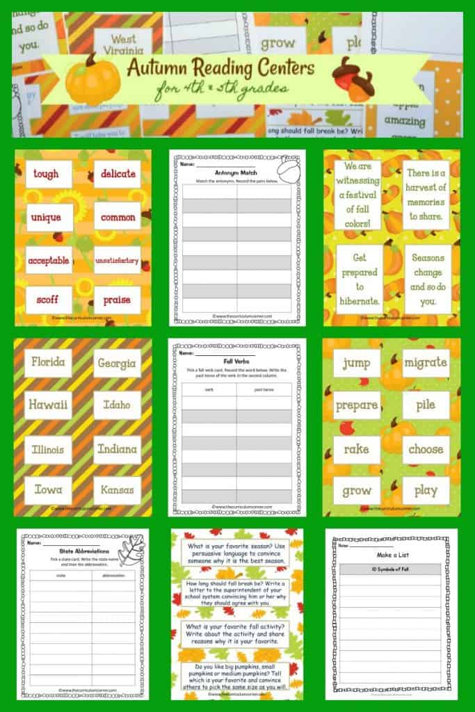 free fall literacy centers