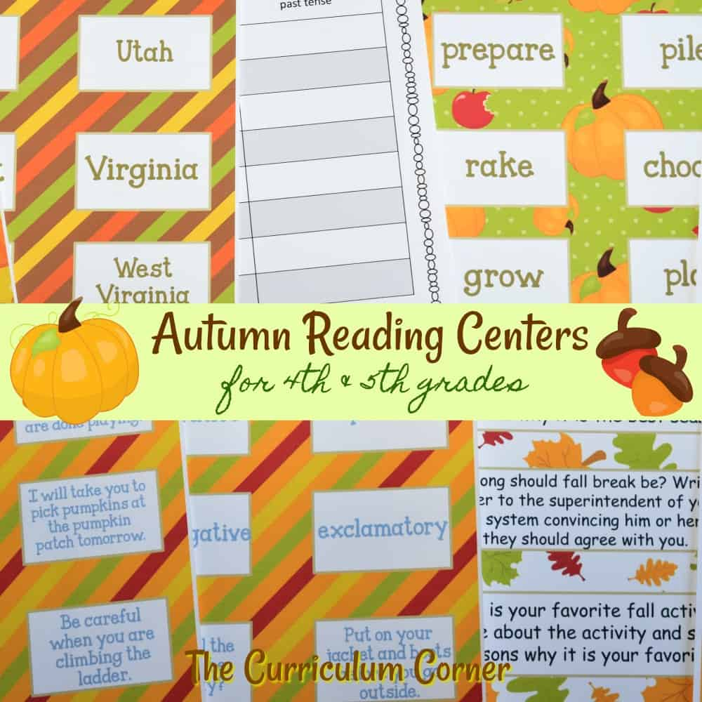 Autumn Reading Centers