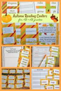 FREE Fall Reading Centers from The Curriculum Corner
