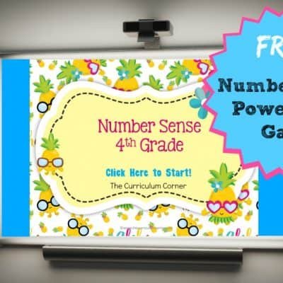 4th Grade Number Sense PowerPoint Game