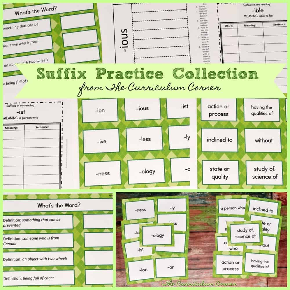 Suffix Printables & Resources
