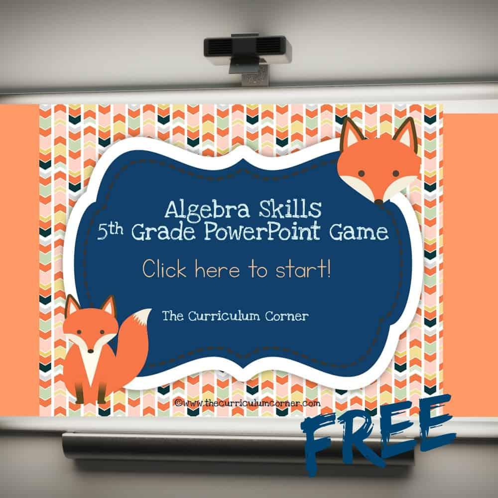 5th Grade Algebra PowerPoint Game