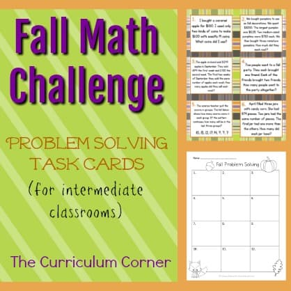 Fall Problem Solving Challenge Cards