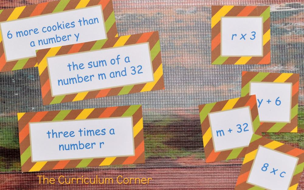 FREE Fall Math Centers for 4th & 5th Grades from The Curriculum Corner 2