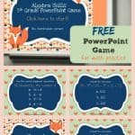 FREE 5th Grade Algebra Game for PowerPoint from The Curriculum Corner   Order of Operations 3