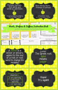 Roots, Prefixes & Suffixes Instruction Pack from The Curriculum Corner | PowerPoint | Games | Centers | Worksheets FREE 8