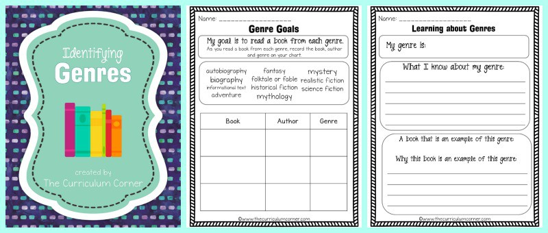 FREE Identifying Genres Collection from The Curriculum Corner 5