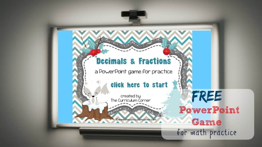 This winter decimals & fractions game is a PowerPoint designed to give your students extra math practice.