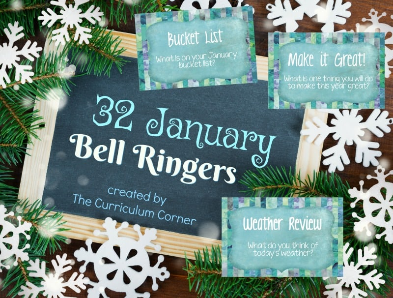 This collection of January bell ringers has been created to help you create a simple and engaging morning routine.