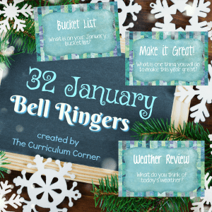 FREE January Bell Ringers from The Curriculum Corner