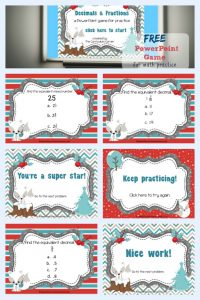 Decimals & Fractions Game for PowerPoint free from The Curriculum Corner