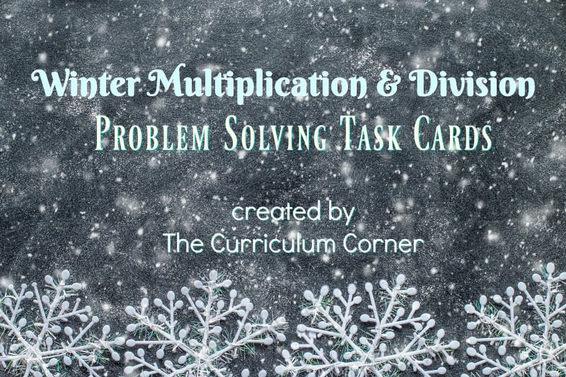 These winter problem solving task cards are designed to give your fourth grade math students extra practice with word problems.
