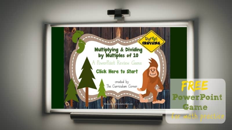 Students will practice multiplying and dividing by multiples of 10 with this free, engaging PowerPoint game created by The Curriculum Corner.