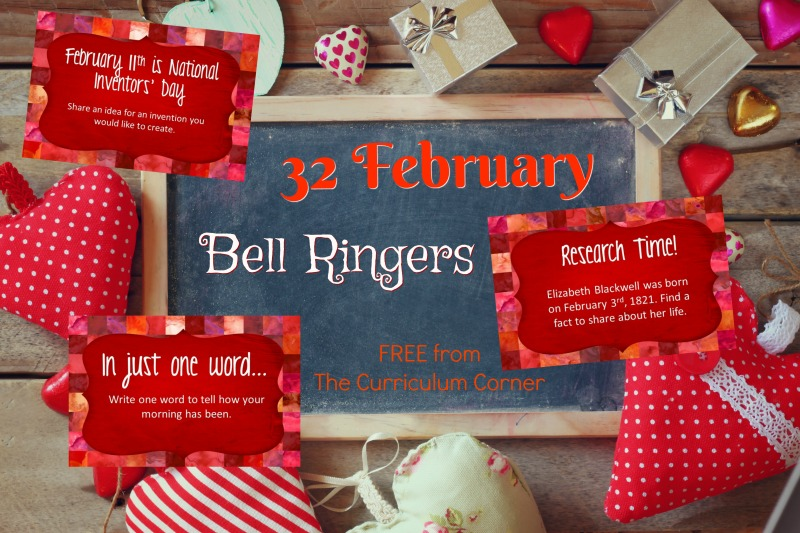 This collection of February bell ringers has been created to help you create a simple and engaging morning routine.