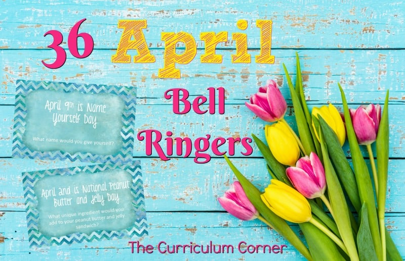 This collection of April bell ringers has been created to help you create a simple and engaging morning routine.
