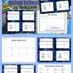 Decimal Pattern Grids Task Cards from The Curriculum Corner