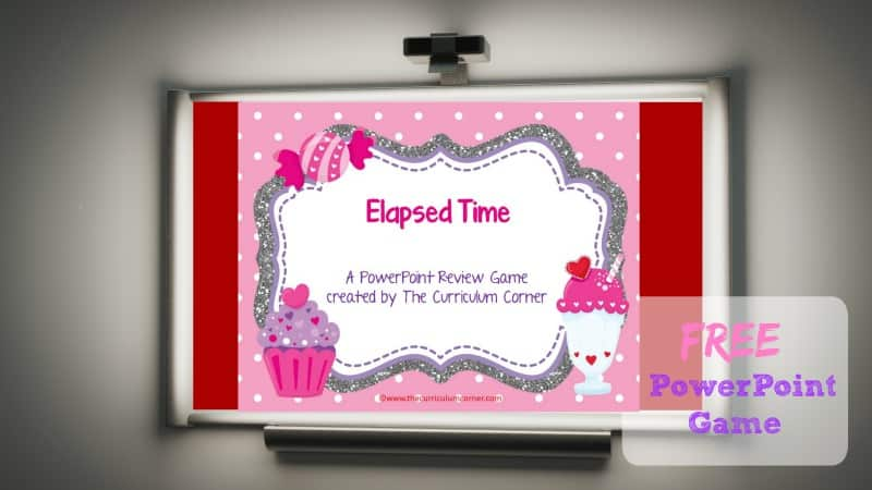 This free elapsed time PowerPoint game is designed with a sweet treats theme and is perfect for Valentine's Day.