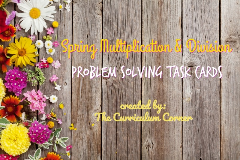 These spring problem solving task cards are designed to give your fourth grade math students extra practice with word problems.