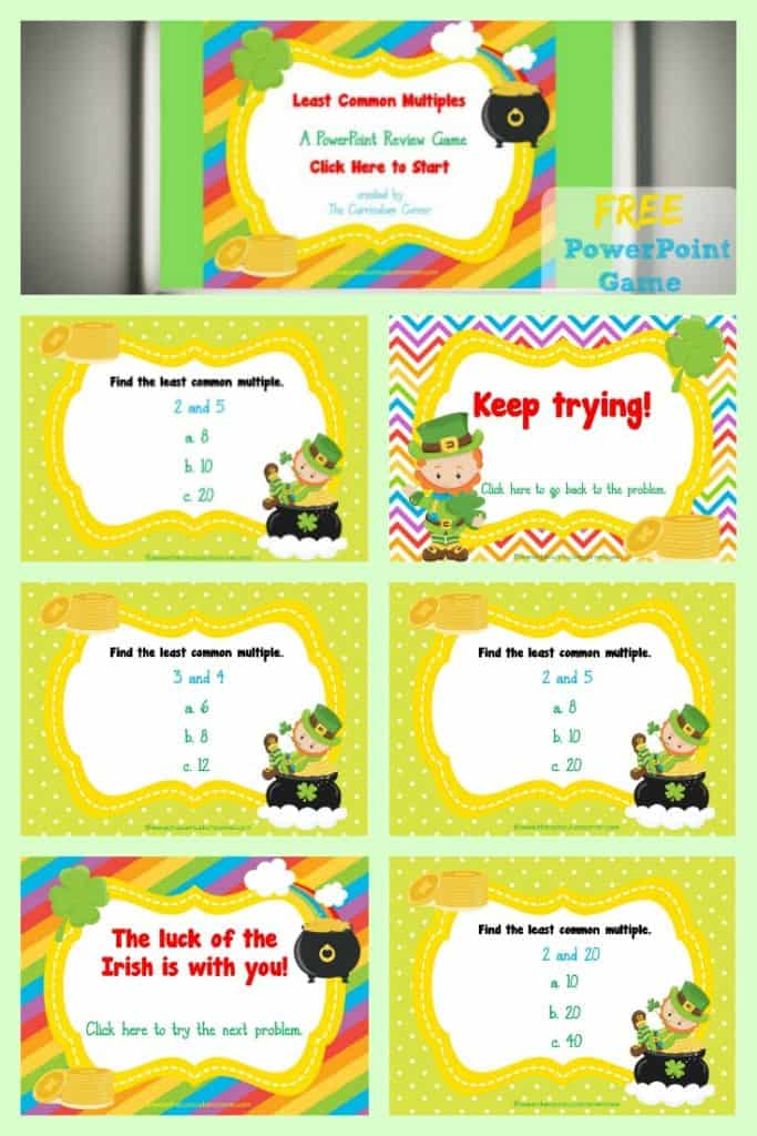 FREE Least Common Multiple Game for PowerPoint | LCM | Fraction Practice | The Curriculum Corner