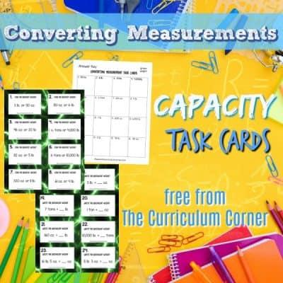 Measurement: Converting Capacity Task Cards