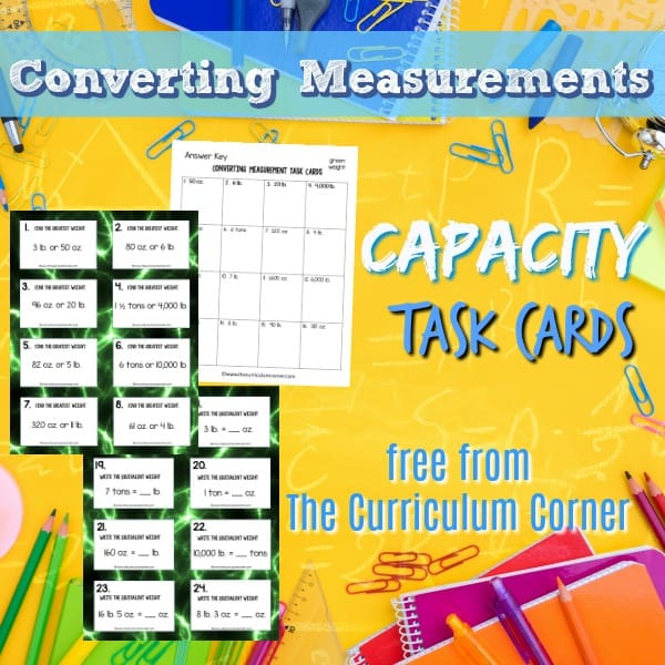 Measurement: Converting Capacity Task Cards