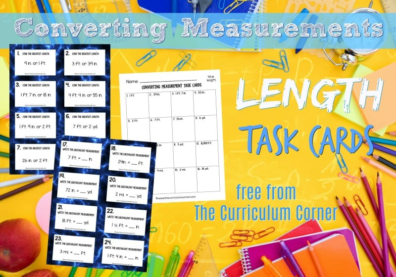 This collection of 32 converting length task cards will give your students practice with fifth grade math skills.