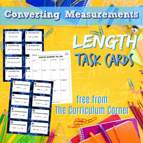 Measurement: Converting Length Task Cards