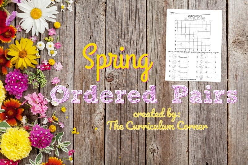 These spring ordered pairs have been created as an engaging, free printable math activity for your classroom (coordinate grids.)