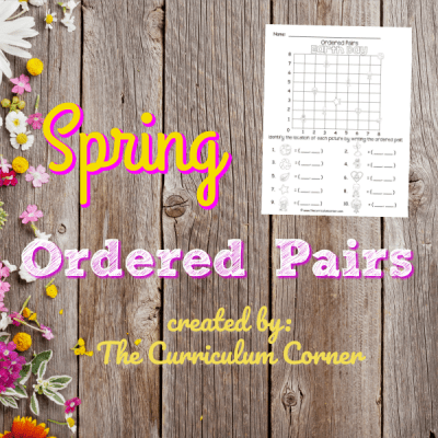 Spring Ordered Pairs (Coordinate Grid)