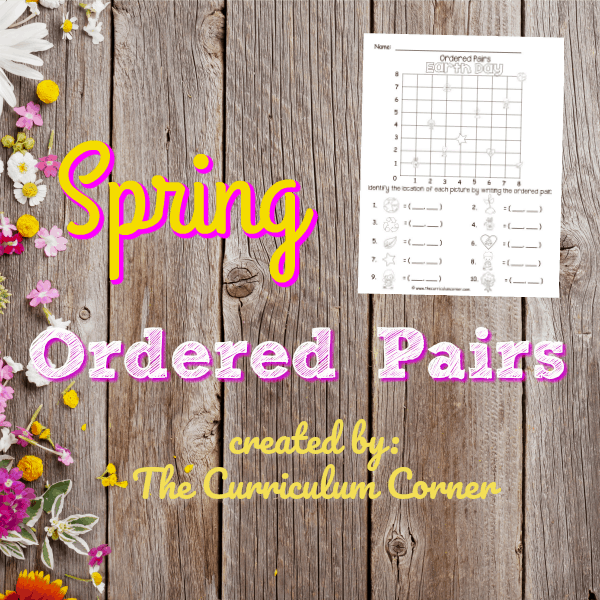 Spring Ordered Pairs (Coordinate Grid)