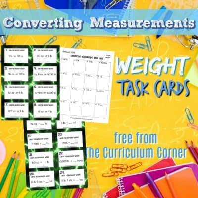 Measurement: Converting Weight Task Cards