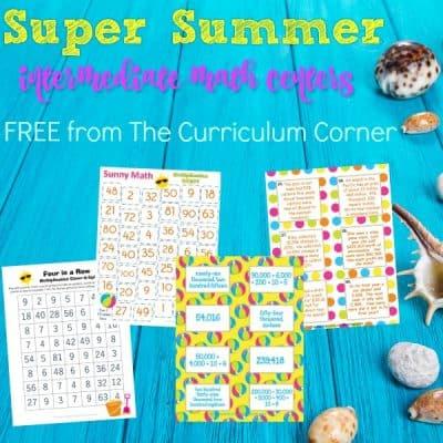 Super Summer Math Centers