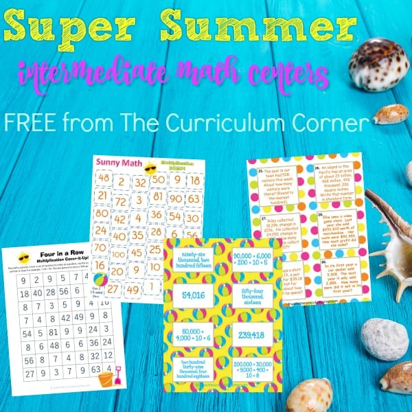 Super Summer Math Centers