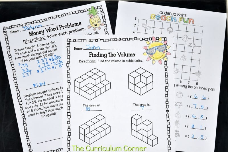 5th Grade Summer Math Booklet 2