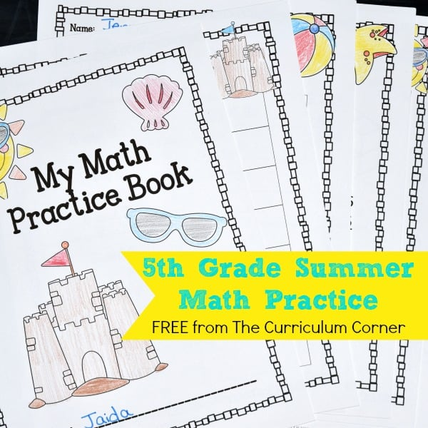 5th Grade Summer Math Booklet