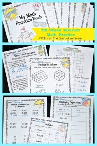 5th summer math pinterest