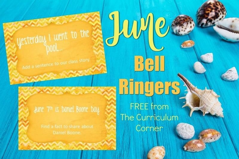 This free collection of June bell ringers has been created to help you create a simple and engaging morning routine.