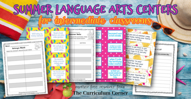 These Super Summer Language Arts Centers for intermediate classrooms are designed for summer themed reading practice in fourth and fifth grade classrooms.