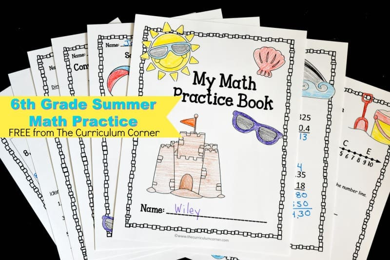 We have created this 6th grade summer math booklet to help your students get a little math skill practice in over their summer break.