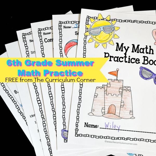 6th Grade Summer Math Booklet