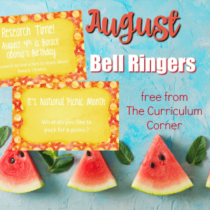 This free collection of August bell ringers has been created to help you create a simple and engaging morning routine.