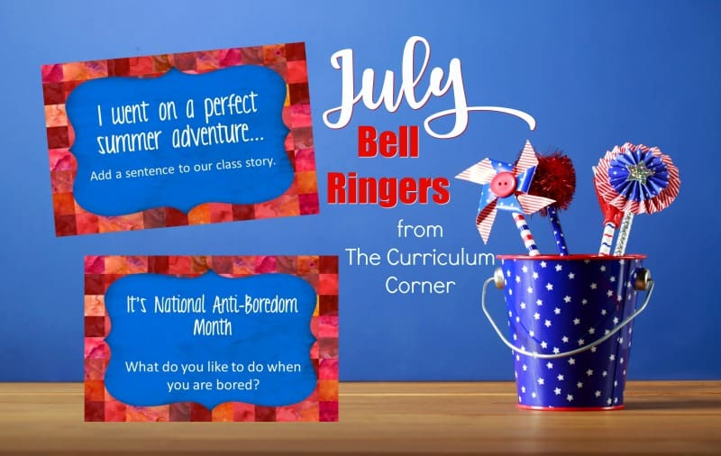 This free collection of July bell ringers has been created to help you create a simple and engaging morning routine.