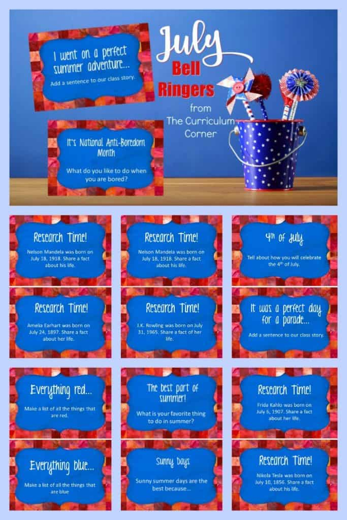 This free collection of July bell ringers has been created to help you create a simple and engaging morning routine. 2