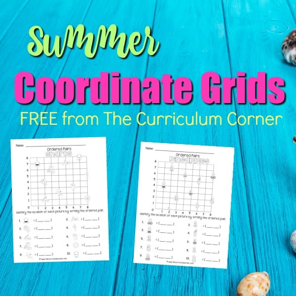 Summer Coordinate Grids
