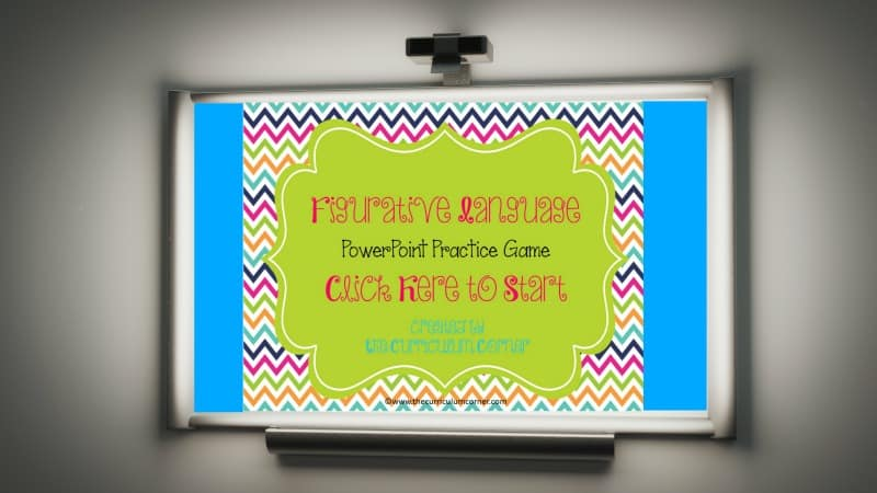 Students will practice identifying figurative language using this Figurative Language Game for PowerPoint created by The Curriculum Corner.