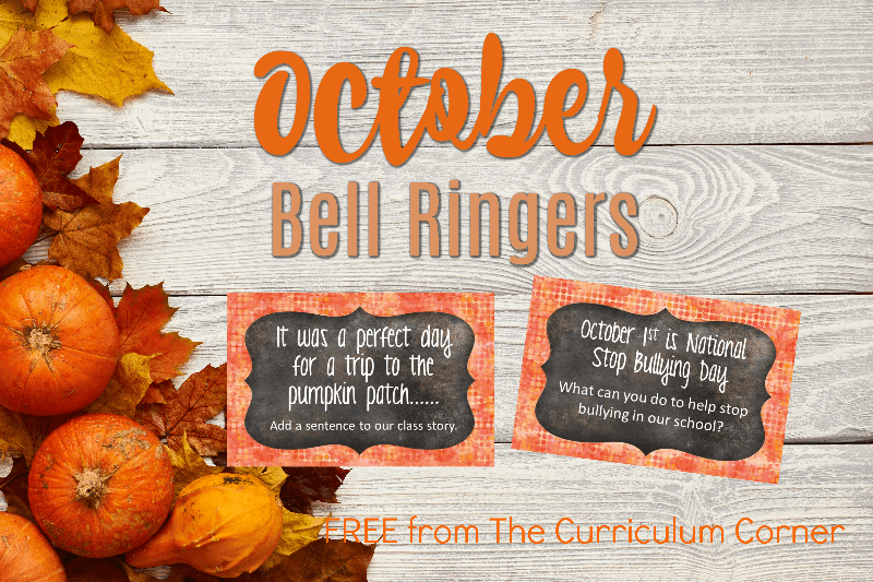 This free collection of October bell ringers has been created to help you create a simple and engaging morning routine.