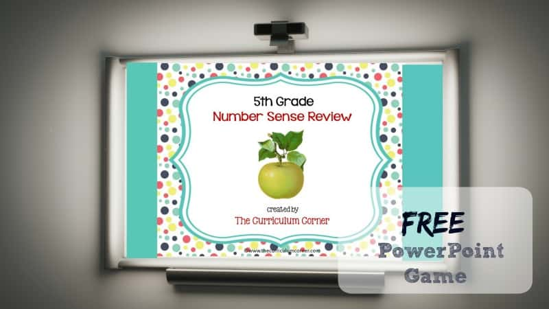 This 5th Grade Number Sense Review Game is designed to give your students practice with fifth grade standards throughout your unit of study.