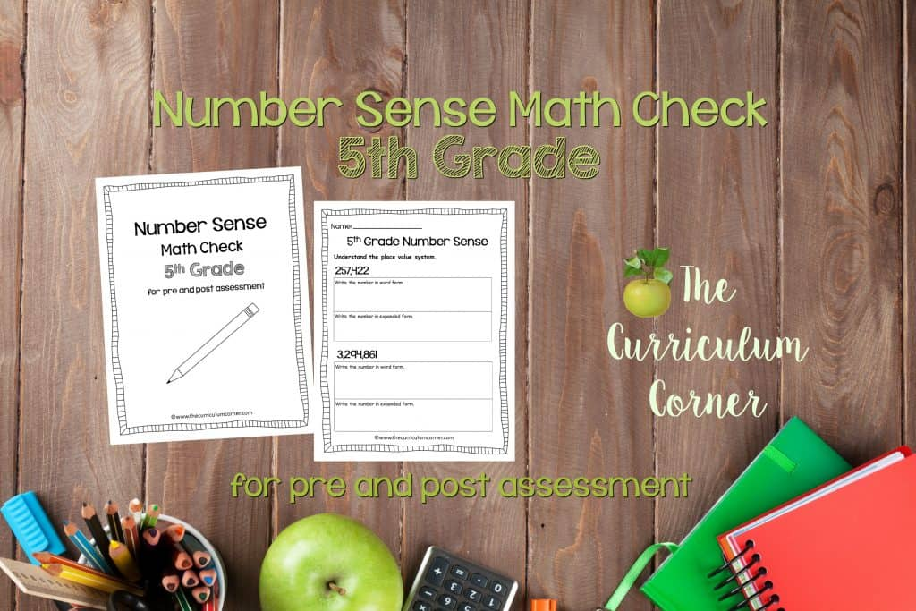This 5th Grade Number Sense Math Check is designed to be a pre and post assessment for number sense standards in your math classroom.
